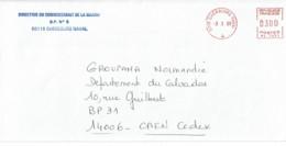 1998 - Oblitération Machine à Affranchir SECAP NL - 50115 CHERBOURG NAVAL - Postmark Collection (Covers)