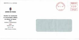1998 - Oblitération Machine à Affranchir SECAP NS - RENNES ARMEES - Postmark Collection (Covers)