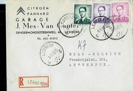 Doc. De LEBBEKE - C C - Du 09/11/65 Sur Lettre à Entête Citroën Et Panhard  En Rec. - Marcophilie