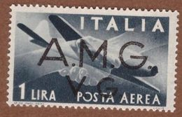 AMGVG020 AMG-VG 1945-47 POSTA AEREA SERIE DEMOCRATICA SOPRASTAMPATA LIRE 1 SASSONE NR A2 * MLH - Nuovi