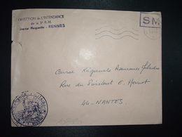 LETTRE OBL.MEC.20-4 1970 POSTE AUX ARMEES DIRECTION DE L'INTENDANCE De La 3e R.M. RENNES (35) INTENDANCE P.F. BEGUINET - Postmark Collection (Covers)
