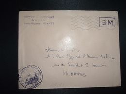 LETTRE OBL.MEC.21-4 1970 POSTE AUX ARMEES DIRECTION DE L'INTENDANCE De La 3e R.M. RENNES (35) INTENDANCE P.F. BEGUINET - Postmark Collection (Covers)