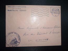 LETTRE OBL.MEC.20-5 1970 POSTE AUX ARMEES DIRECTION DE L'INTENDANCE De La 3e R.M. RENNES (35) INTENDANCE P.F. BEGUINET - Postmark Collection (Covers)