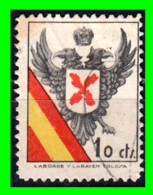 SELLO BENEFICENCIA AGUILA BICEFALA REQUETES 10 CENTIMOS - Franquicia Militar