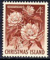 Christmas Island Australia 1963 QE2 4ct Red Brown Moonflower Umm SG 12 ( M1374 ) - Christmas Island
