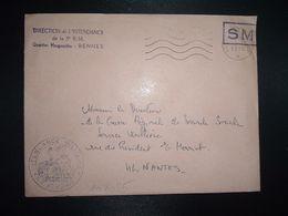 LETTRE OBL.MEC.17-11 1970 POSTE AUX ARMEES DIRECTION DE L'INTENDANCE De La 3e R.M. RENNES (35) INTENDANCE P.F. BEGUINET - Postmark Collection (Covers)