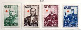 1938 - FINLANDIA - Mi. Nr. 204-207 - LH -  (UP.70.47) - Finlande