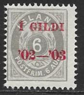 Iceland Scott # 46 MNH Numeral Overprinted,1902 - Nuevos