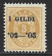 Iceland Scott # 49 MNH Numeral Overprinted,1902 - Nuevos