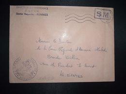 LETTRE OBL.MEC.29-12 1970 POSTE AUX ARMEES DIRECTION DE L'INTENDANCE De La 3e R.M. RENNES (35) INTENDANCE P.F. BEGUINET - Postmark Collection (Covers)