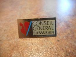 Lot 063 -- Pin's Conseil General Du Bas Rhin - Steden