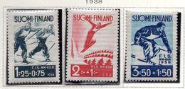 1938 - FINLANDIA - Mi. Nr. 208/210 - LH -  (UP.70.47) - Finlande