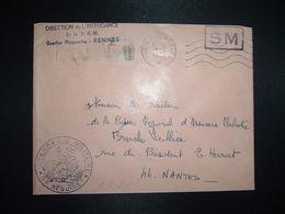 LETTRE OBL.MEC.9-2 1971 POSTE AUX ARMEES DIRECTION DE L'INTENDANCE De La 3e R.M. RENNES (35) INTENDANCE P.F. BEGUINET - Postmark Collection (Covers)