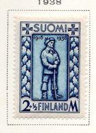 1938 - FINLANDIA - Mi. Nr. 211 - LH -  (UP.70.47) - Finlande