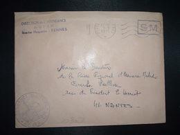 LETTRE OBL.MEC.1-3 1971 POSTE AUX ARMEES DIRECTION DE L'INTENDANCE De La 3e R.M. RENNES (35) INTENDANCE P.F. BEGUINET - Postmark Collection (Covers)