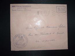LETTRE OBL.MEC.9-3 1971 POSTE AUX ARMEES DIRECTION DE L'INTENDANCE De La 3e R.M. RENNES (35) INTENDANCE P.F. BEGUINET - Postmark Collection (Covers)