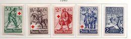 1940 - FINLANDIA - Mi. Nr. 222/226 - LH -  (UP.70.47) - Finlande