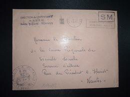 LETTRE OBL.MEC.4-5 1971 POSTE AUX ARMEES DIRECTION DE L'INTENDANCE De La 3e R.M. RENNES (35) INTENDANCE P.F. BEGUINET - Postmark Collection (Covers)