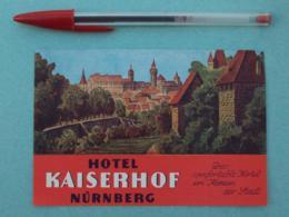 015 Etiquette D'Hotel, Germany Hotel Kaiserhof Nurnberg - Etiquettes D'hotels