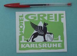 017 Etiquette D'Hotel, Germany Karlsruhe - Hotel Greif - Etiquettes D'hotels