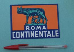 025 Etiquette D'Hotel, Italy Roma Continentale - Etiquettes D'hotels