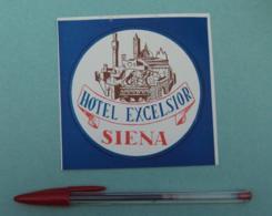 026 Etiquette D'Hotel, Italy Siena - Hotel Exelsior Bleu - Etiquettes D'hotels