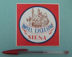 027 Etiquette D'Hotel, Italy Siena - Hotel Exelsior Rouge - Etiquettes D'hotels