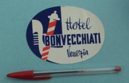 029 Etiquette D'Hotel, Italy Venise Venezia Hotel Bonvecchiati - Etiquettes D'hotels