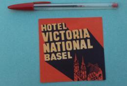 041 Etiquette D'Hotel, Suisse Hotel Victoria National Basel - Etiquettes D'hotels