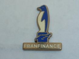 Pin's PINGOUIN FRANFINANCE - Animaux