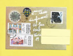 Lettre Avec Montimbrenligne Covid19 Timbre Univers + 2 Spécimen Du 02 06 2020 + Danseuses + Volets Ouverts + Coronavirus - Poststempel (Briefe)