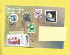 Lettre Avec Montimbrenligne Covid19 Timbre Univers + 2 Spécimen Du 02 06 2020 + Danseuses + Coronavirus + Masques - Postmark Collection (Covers)