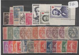 1602  Lot De TIMBRES FRANCE  NEUFS Sans Gomme Entre 1900 Et 1959     2 Euros La Plaquette - Other