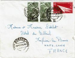 CTN63/ETR - ESPAGNE LETTRE DE BURGOS 19/8/1956 - 1931-Oggi: 2. Rep. - ... Juan Carlos I