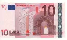 "10 EURO  ""U""  France   Duisenberg    L 006 C3  Ch.08  /  FDS - UNC - EURO"