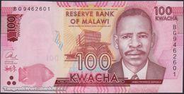 TWN - MALAWI 65c - 100 Kwacha 1.1.2017 Prefix BG UNC - Malawi