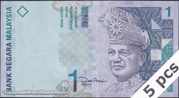 TWN - MALAYSIA 39b - 1 Ringgit 1998 DEALERS LOT X 5 - Prefix AGG - Signature: Zeti Aziz UNC - Malaysie