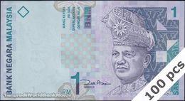 TWN - MALAYSIA 39b - 1 Ringgit 1998 DEALERS LOT X 100 - Prefix AGG - Signature: Zeti Aziz UNC - Malaysie