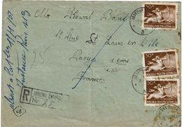 CTN63/ETR - POLOGNE LETTRE  RECOMMANDEE A DESTINATION DE PARIS - Storia Postale