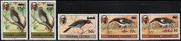 1984 Sierra Leone Surcharged Birds Set (** / MNH / UMM) - Unclassified