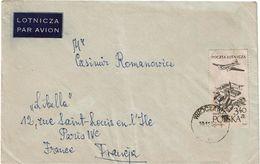 CTN63/ETR - POLOGNE LETTRE  AVION A DESTINATION DE PARIS - Brieven En Documenten