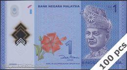 TWN - MALAYSIA 51 - 1 Ringgit 2011 DEALERS LOT X 100 - Polymer - Prefix JK  - Signature: Zeti Aziz UNC - Malaysie
