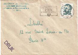 CTN63/ETR - POLOGNE LETTRE   A DESTINATION DE PARIS TARIF IMPRIMES - 1944-.... Republic