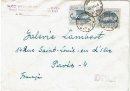 CTN63/ETR - POLOGNE LETTRE   A DESTINATION DE PARIS - 1944-.... Republic