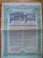 BRESIL - 1907 - PORT DE PARA - TITRE  : OBLIGATION DE 20 £ ,  PREMIERE HYPOTHEQUE 5% OR - Shareholdings