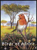 2003 Sierra Leone European Robin Souvenir Sheet (** / MNH / UMM) - Sperlingsvögel & Singvögel