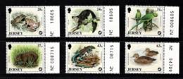 Jersey 1997 Wildlife Marginal Set Of 6 MNH - Jersey