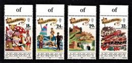 Jersey 1990 Festival Of Tourism Marginal Set Of 4 MNH - Jersey