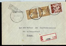 Doc. De LAUWE - D D - Du 19/05/56  En Rec. - Postmark Collection