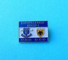 EVERTON FC V AEK ATHENS - 2009 Europa League Group I Football Pin Badge * Soccer Fussball Calcio Foot England Greece - Fussball
